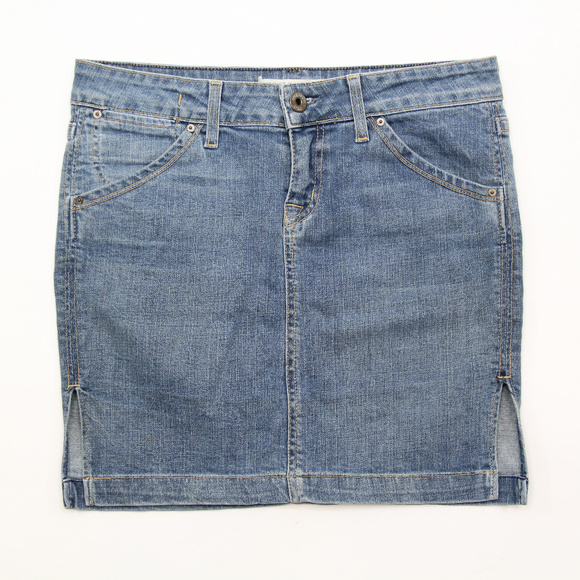 6fec1cf63 Hudson Jeans Skirts | Hudson Denim Skirt 29 Flap Pockets Side Slits ...